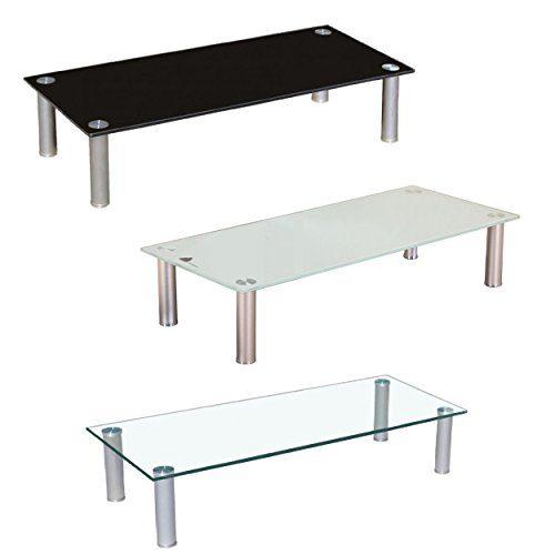 Euro Tische TV-Board TV-Rack Glas in 3 verschiedenen Größen & Farben - perfekt geeignet als Fernsehtisch oder Bildschirmständer