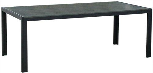 KMH®, Alu-Gartentisch *Tuco* grau 205 x 90 cm (#106100)