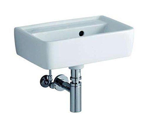 Keramag Handwaschbecken Renova Nr. 1 Plan, ohne Hahnloch, mit Überlauf 45x32cm weiß(alpin), 27214800