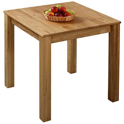 Krokwood Bonn Massivholz Esstisch in Eiche FSC100% massiv Beistelltisch geölt Eichenholz Esszimmertisch für Küche praktischer Küchentisch Fester Holztisch vom Hersteller