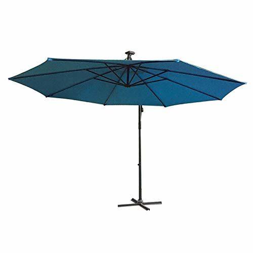 LARS360 Ø300cm Aluminium Sonnenschirm Marktschirm Balkonschirm Gartenschirm Ampelschirm Kurbelschirm Gartenschirm UV40+ Schutz