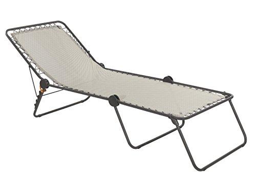 Lafuma Sonnenliege, Klappbar mit verstellbarem Rückenteil, Siesta L Batyline, Ocean (Dunkelblau), LFM2293-3862