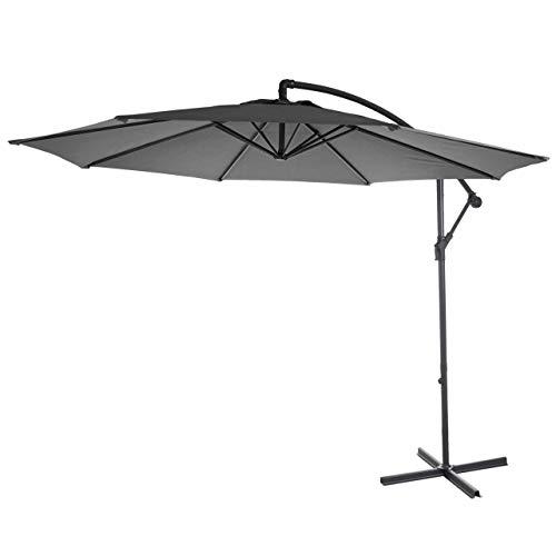Mendler Ampelschirm Acerra, Sonnenschirm Sonnenschutz, Ø 3m neigbar, Polyester/Stahl 11kg