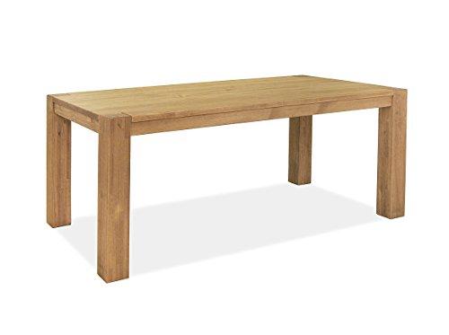 Naturholzmöbel Seidel Esstisch,Rio Bonito, 160x90 cm, Pinie Massivholz, geölt und gewachst, Holz Tisch für Esszimmer, Wohnzimmer Küche, Farbton Honig hell, Optional: passende Bänke und Ansteckplatten