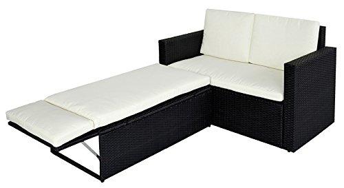 SVITA Poly-Rattan Lounge Garten-Set Sofa Garnitur Gartenmöbel Couch