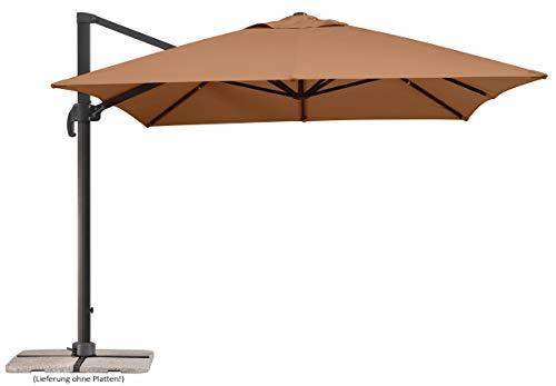 Schneider Rhodos Grande Sonnenschirm, rechteckig, sand, 400x300cm