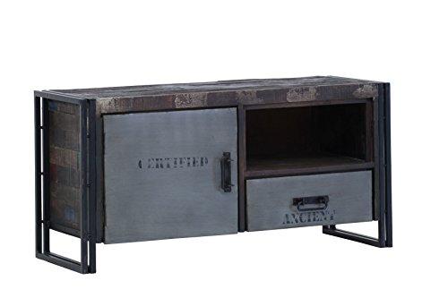 Stylefurniture TV-Board aus Metall und Massivholz, braun