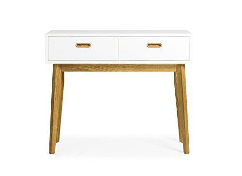 Tenzo 2160-001 Bess Designer Schminktisch Holz, weiß / eiche, 35 x 82 x 98 cm