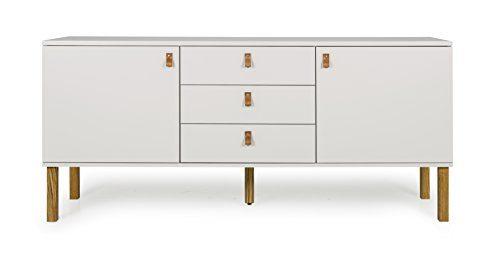 Tenzo VOX Sideboard 2 Türen und 3 Schubladen MDF Warm Grau/Eiche One Size
