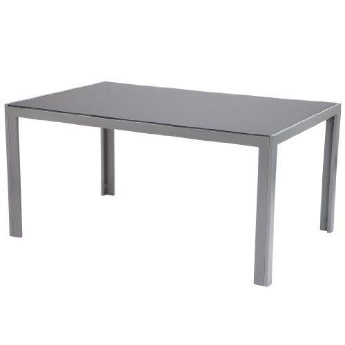 Ultranatura Aluminium Glastisch, Korfu Serie - 150 x 96 x 73 cm