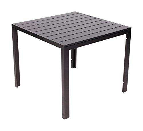 Vanage Alu-Gartentisch Helsinki Polywood-Esstisch mit Aluminiumgestell