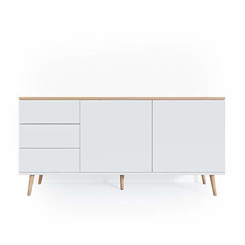 Vicco Sideboard Corona Kommode Schrank in grau und weiß verfügbar, Scandi-Look