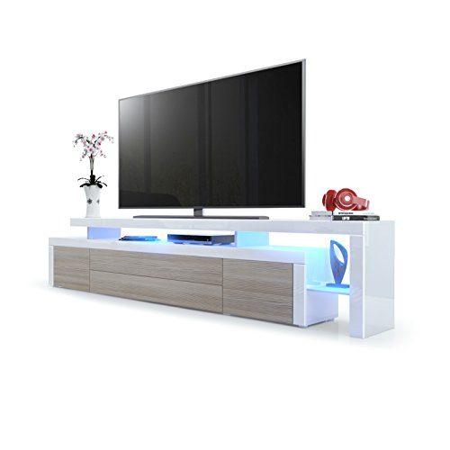 Vladon Leon V3 TV Board Weiß