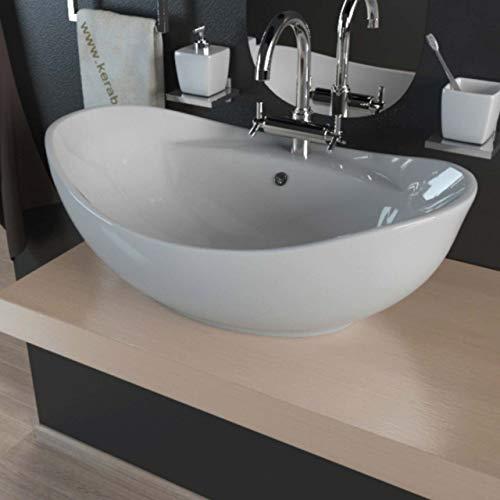 Waschbecken KBW011 Keramik Waschtisch Waschschale Aufsatzwaschbecken