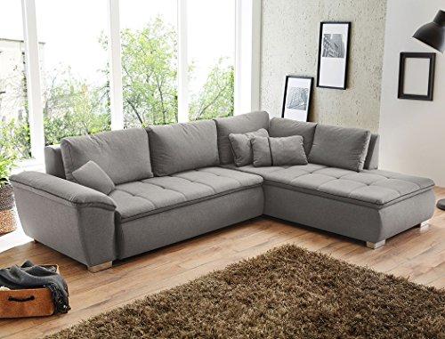 Wohnlandschaft Corvin 280x210 cm grau Funktionssofa Eckcouch Polsterecke Bettkasten Couch Sofa Wohnzimmer