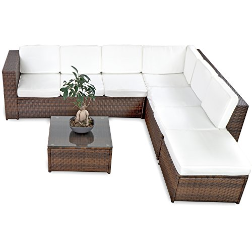 XINRO® Polyrattan Loungeset Loungemöbelset in Mehreren Varianten verfügbar