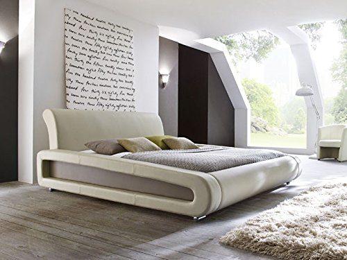 expendio Polsterbett beige Bett 160x200 Bettgestell Kunstlederbett Singlebett Doppelbett Designerbett Blain