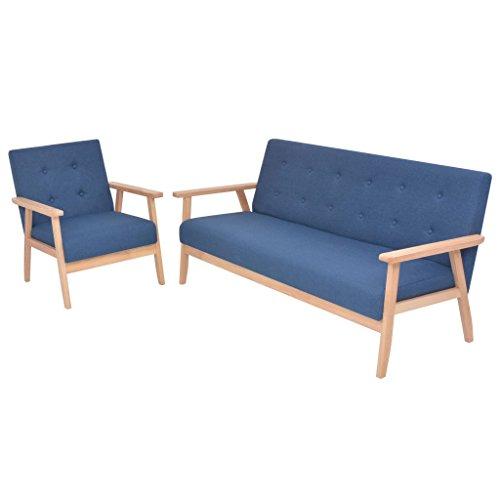 vidaXL 3-Sitzer Sofa Stoff Polstersofa Loungesofa Couch mehrere Auswahl