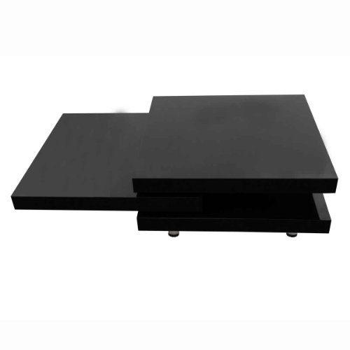 vidaXL Hochglanz Wohnzimmertisch Couchtisch Beistelltisch MDF Tisch Schwarz/Weiß