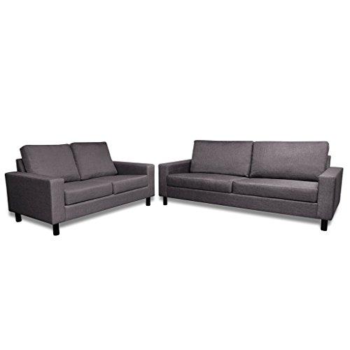 vidaXL Sofa Stoffsofa Sitzer Polstersofa Loungesofa Couch Zweisitzer Sitzmöbel Möbel