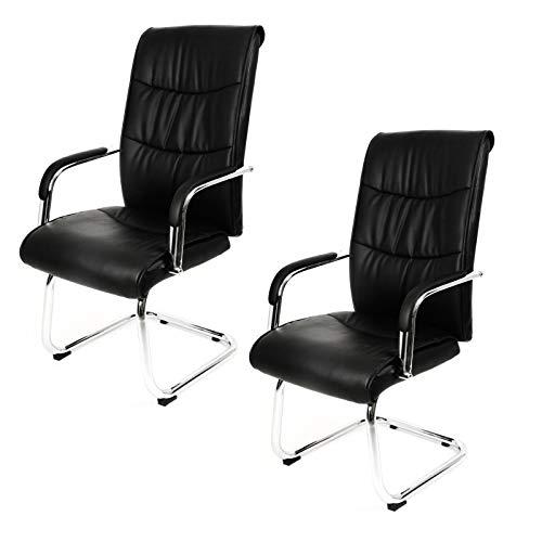 2 x ESTEXO® Bürostuhl Kunstleder, Besucherstuhl, Meetingstuhl, Schreibtischstuhl, Chef Sessel