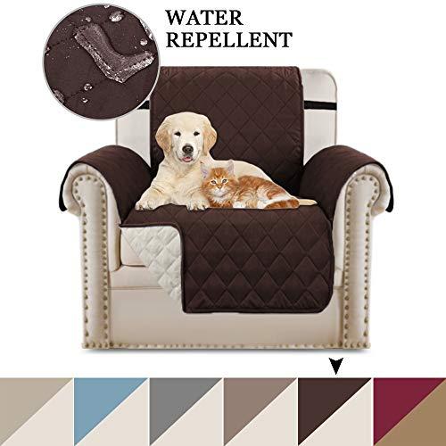 BellaHills Luxus Gesteppter Sofa Schutz Abdeckung Wasserresistenter Möbelschutz Überwurf, Strapazierfähig & Schmutzresistent – 190cm x 53cm Stein Blau