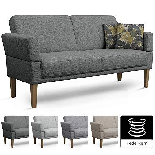CAVADORE 3er Sofa Femarn/Küchensofa für Küche, Esszimmer/Couch für Esszimmer/Maße: 190 x 98 x 81 cm (BxHxT)