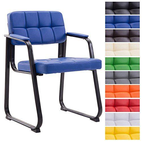 CLP Besucherstuhl Canada B mit hochwertiger Polsterung und Kunstlederbezug I Wartezimmerstuhl mit Armlehne und robustem Metallgestell I erhältlich