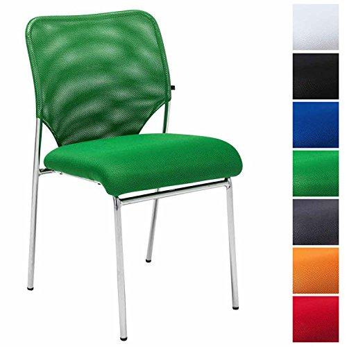 CLP Besucherstuhl KLINT V2 mit hochwertiger Sitzpolsterung und atmungsaktivem Netzbezug I Lehnstuhl mit robustem Metallgestell