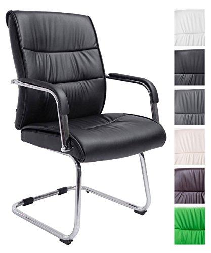 CLP Freischwingerstuhl SIEVERT mit hochwertiger Polsterung und Kunstlederbezug | Konferenzstuhl mit Armlehne l erhältlich