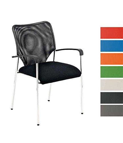 CLP Konferenzstuhl/Besucherstuhl CUBA mit Armlehne & gut gepolsterter Sitzfläche