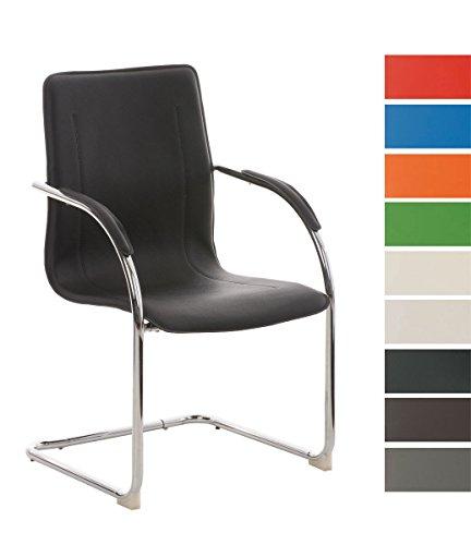 CLP Konferenzstuhl/Besucherstuhl Melina, Freischwinger mit Armlehne, Kunstlederbezug und gepolsterter Sitzfläche