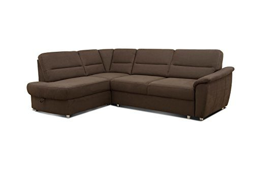 Cavadore Ecksofa Makau/Federkern-Couch mit Ottomane