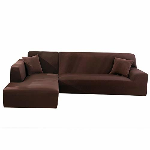 LITTLEGRASS Sofabezug Sofaüberwürfe für L-Form Elastische Stretch 2er Set