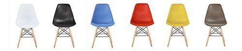 MCC® Retro Design Stühle LIA im 4er Set, Eiffelturm inspirierter Style für Küche, Büro, Lounge, Konferenzzimmer etc, 6 Farben, Kult