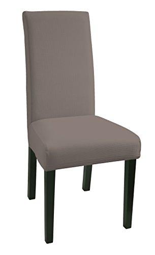 SCHEFFLER-Home Mia Stuhlhussen 2 Stück, Stretch-Hussen Stuhl-Bezug bi-elastische Schutz-Husse, Moderne Abdeckung mit Gummiband, Spannbezug