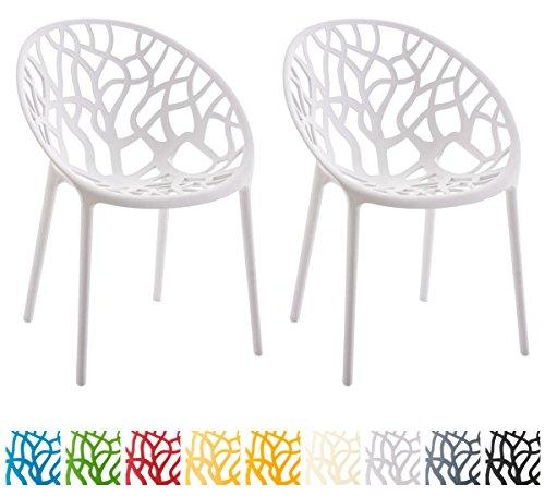 CLP 2er-Set Gartenstuhl Hope aus Kunststoff I 2X Wetterbeständiger Stapelstuhl mit Einer max. Belastbarkeit von: 150 kg I erhältlich