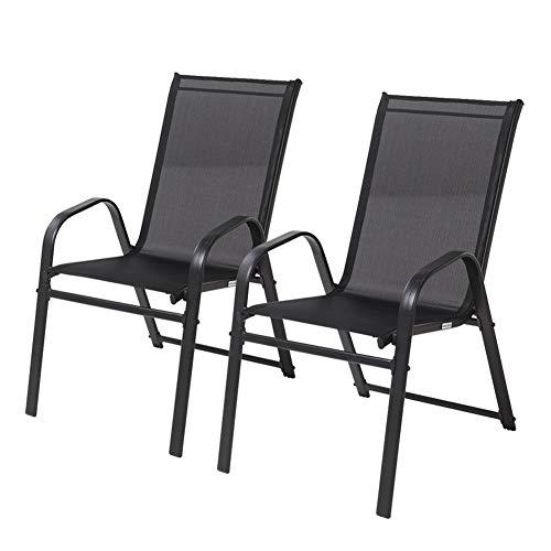 Climecare Gartenstuhl 2 4 8-er Set Stuhl,Stapelstuhl Stapelsessel Outdoor Stahlrahmen Lounge Arm Stuhl Sessel