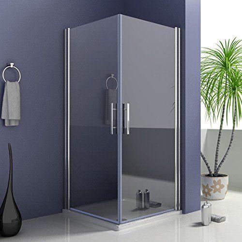 Duschkabine Duschabtrennung Doppeltür Eckeinstieg Duschtür NANO Drehtür Duschwand 185/195cm hoch (A1-xx+A1-xx)