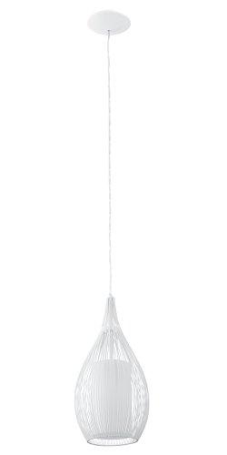 EGLO Hängeleuchte Razoni in weiß E27, Stahl, 19 x 19 x 110 cm