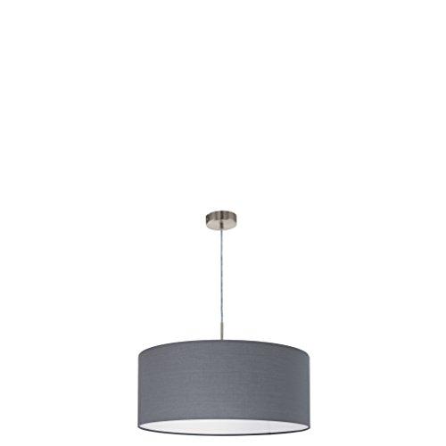 EGLO Hängeleuchte, Stahl, E27, Nickel-matt/Grau, 53 x 53 x 110 cm