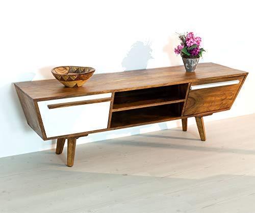 HAISER Interieur Massiver Echtholz TV-Tisch 140 cm Palisander Sheesham Lowboard