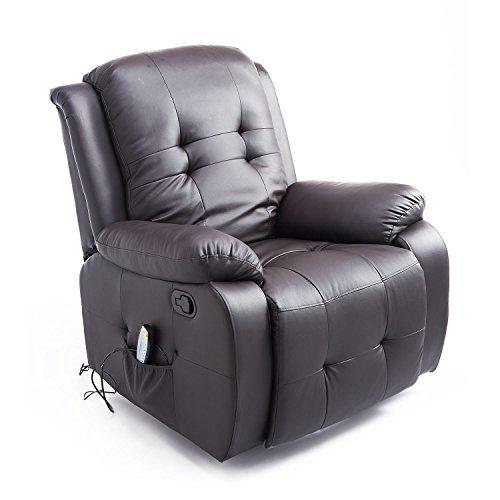 HOMCOM Massagesessel mit Wärmefunktion Fernsehsessel