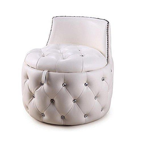 Hocker ZHANGRONG- Rundhocker Schuhhocker Wechseln Sofa Europäischer Weicher Ledersessel Kreativer Speicherhocker (2 Farben Erhältlich) -Sofa