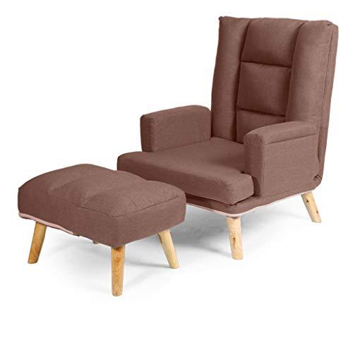 LXYFMS Freizeitstuhl Klappsessel verstellbar, mit Fußstütze Balkon-Freizeitstuhl, 5-Fach Verstellbarer Stoffsessel Faule Couch