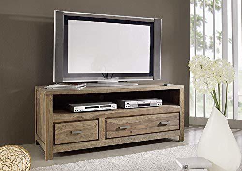 MASSIVMOEBEL24.DE Sheesham massiv Holz Möbel geölt Natur TV-Board Palisander massiv Möbel Massivholz braun Buddha #118