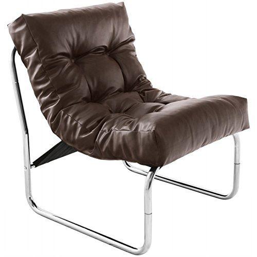 MK Design Sessel ISERE Simil Leder (Braun)