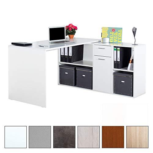 RICOO Winkelbarer Schreibtisch mit Vielseitiger Anschlagmöglichkeit | WM081 | WM083