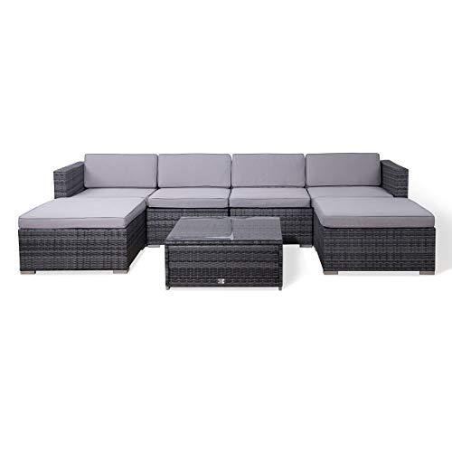 SVITA Lugano Poly Rattan Lounge Garten-Set XXL Sofa-Set Garnitur Gartenmöbel Couch-Set