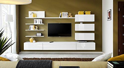 Unbekannt BMF Italien Modern Hochglanz Wohnzimmer/Schlafzimmer/Studio flach-Möbel Set-Wohnwand TV Ständer/Schränke & Regale-nur aus BMF.